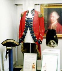 Militia uniform from the 18th century