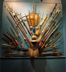 A display of historic weaponry