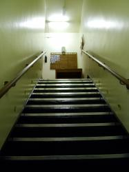 Inside Yorks Cold War Bunker - stairs up to the entrance